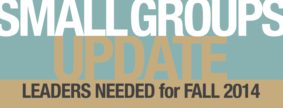 Small Groups Update